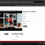 Drupal landing page