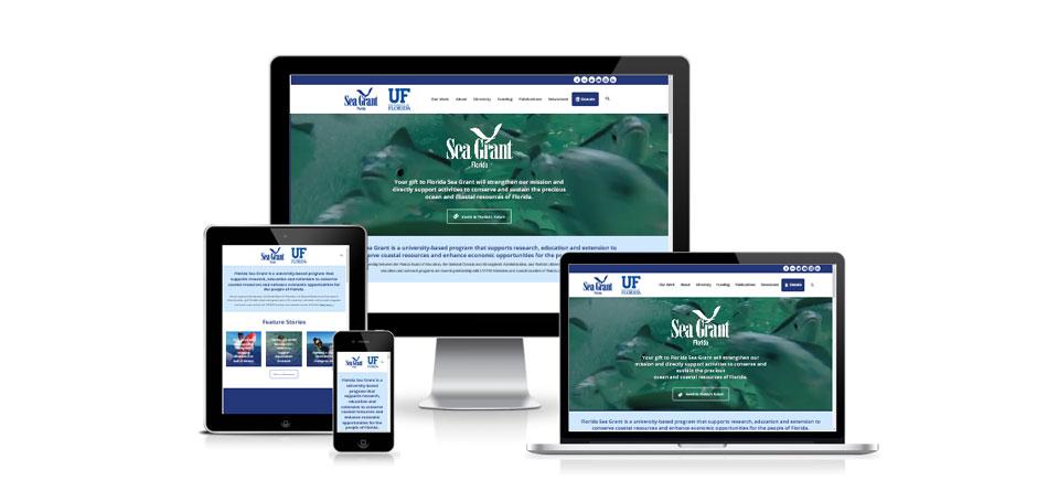Responsive web design for Florida Sea Grant