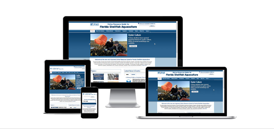responsive website for UF IFAS Shellfish