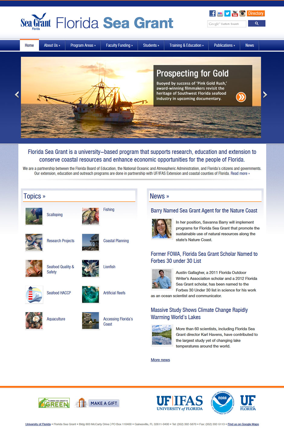 Florida Sea Grant website