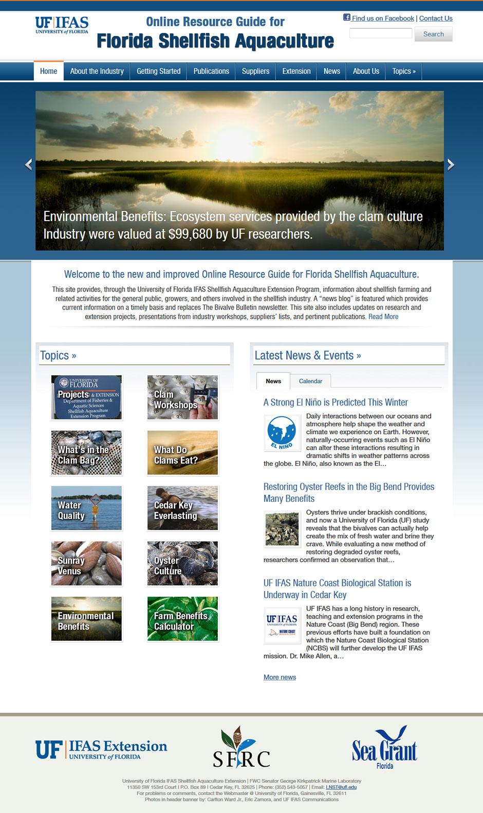 UF IFAS Shellfish website