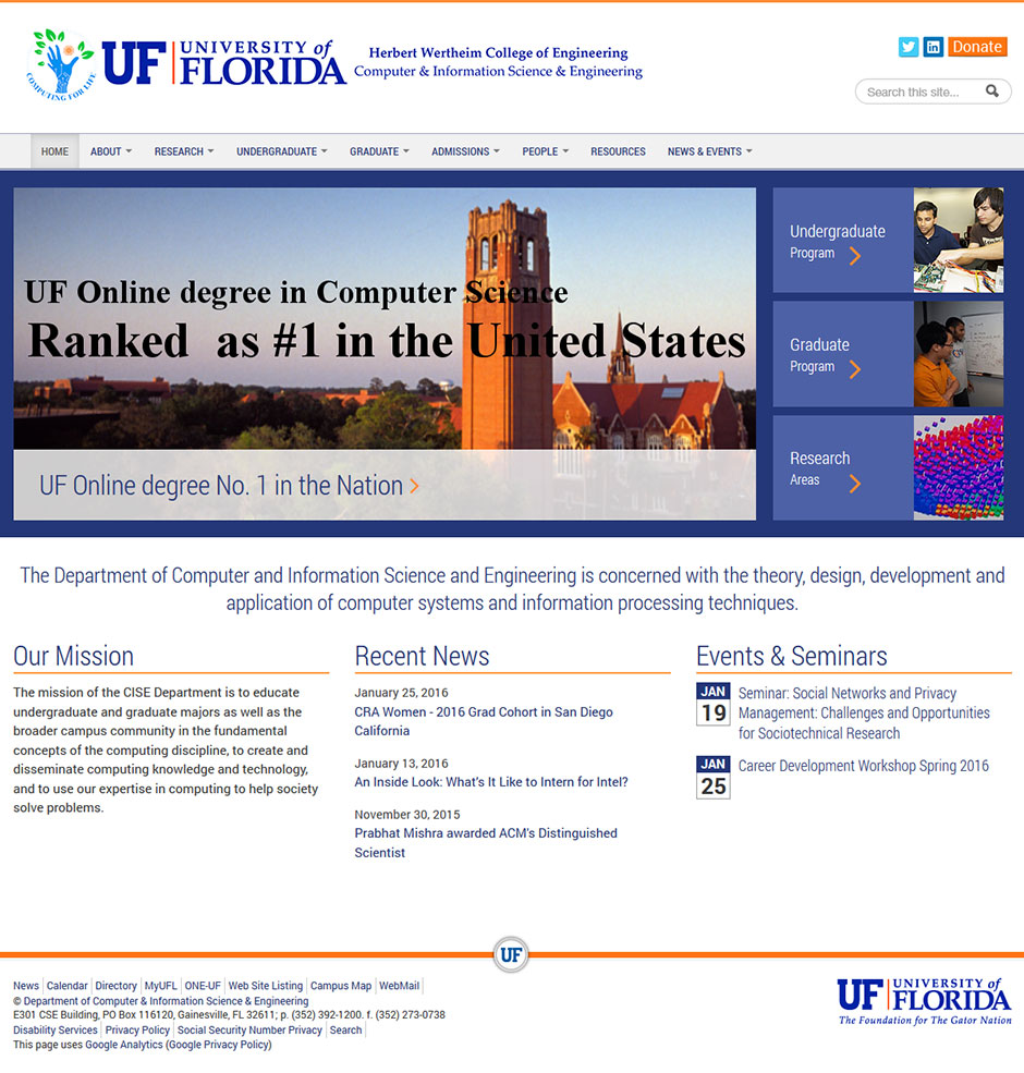 UF CISE website