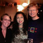 Thomas and Sonja with the talented Rebecca Zapen.