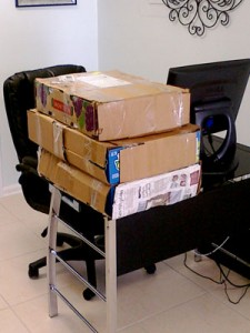 Boxes delivered