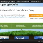 How to embed YouTube video in Drupal Gardens