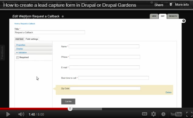 G How To Create A Lead Capture Form In Drupal Or Gardens  Motionbuzz  Web Design Jacksonville Florida