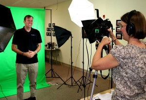 Green screen video shoot at Pragmatic Works