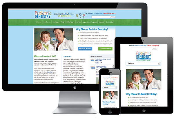 Medical Web Design and Marketing including Responsive design for iPad, iPhone, and Android