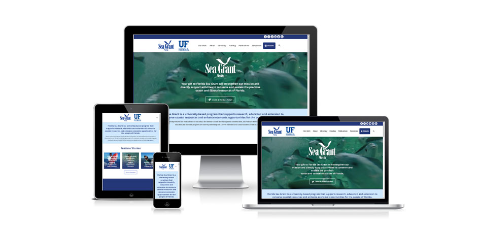 Responsive web design for Florida Sea Grant