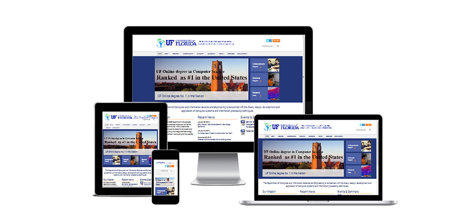 Responsivle web design for University of Florida CISE